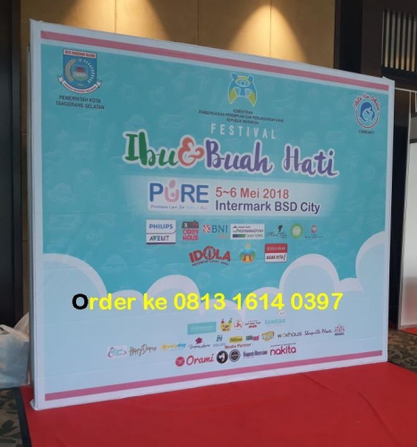 ready stock sewa backdrop R8 partisi pameran depok